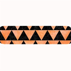 Triangle2 Black Marble & Orange Watercolor Large Bar Mats by trendistuff
