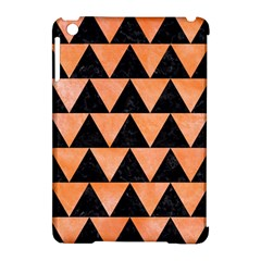 Triangle2 Black Marble & Orange Watercolor Apple Ipad Mini Hardshell Case (compatible With Smart Cover) by trendistuff