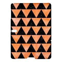 Triangle2 Black Marble & Orange Watercolor Samsung Galaxy Tab S (10 5 ) Hardshell Case  by trendistuff