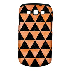 Triangle3 Black Marble & Orange Watercolor Samsung Galaxy S Iii Classic Hardshell Case (pc+silicone) by trendistuff