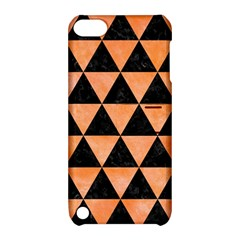 Triangle3 Black Marble & Orange Watercolor Apple Ipod Touch 5 Hardshell Case With Stand by trendistuff