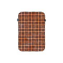 Woven1 Black Marble & Orange Watercolor Apple Ipad Mini Protective Soft Cases by trendistuff