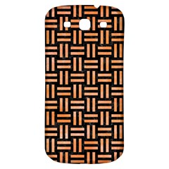 Woven1 Black Marble & Orange Watercolor (r) Samsung Galaxy S3 S Iii Classic Hardshell Back Case by trendistuff