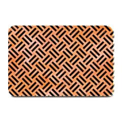 Woven2 Black Marble & Orange Watercolor Plate Mats by trendistuff