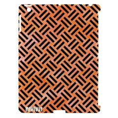Woven2 Black Marble & Orange Watercolor Apple Ipad 3/4 Hardshell Case (compatible With Smart Cover) by trendistuff