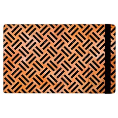 Woven2 Black Marble & Orange Watercolor Apple Ipad 3/4 Flip Case by trendistuff