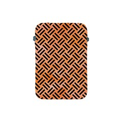 Woven2 Black Marble & Orange Watercolor Apple Ipad Mini Protective Soft Cases by trendistuff