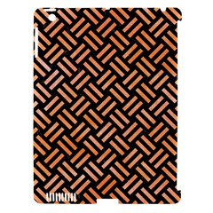 Woven2 Black Marble & Orange Watercolor (r) Apple Ipad 3/4 Hardshell Case (compatible With Smart Cover) by trendistuff