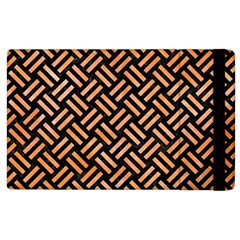Woven2 Black Marble & Orange Watercolor (r) Apple Ipad 3/4 Flip Case by trendistuff