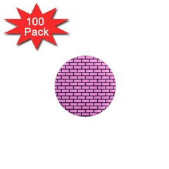 Brick1 Black Marble & Pink Colored Pencil 1  Mini Magnets (100 Pack)  by trendistuff