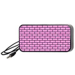 Brick1 Black Marble & Pink Colored Pencil Portable Speaker by trendistuff