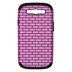 Brick1 Black Marble & Pink Colored Pencil Samsung Galaxy S Iii Hardshell Case (pc+silicone) by trendistuff