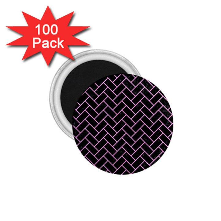 BRICK2 BLACK MARBLE & PINK COLORED PENCIL (R) 1.75  Magnets (100 pack)