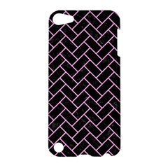 Brick2 Black Marble & Pink Colored Pencil (r) Apple Ipod Touch 5 Hardshell Case by trendistuff