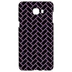 Brick2 Black Marble & Pink Colored Pencil (r) Samsung C9 Pro Hardshell Case  by trendistuff