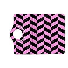 Chevron1 Black Marble & Pink Colored Pencil Kindle Fire Hd (2013) Flip 360 Case by trendistuff