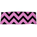 CHEVRON9 BLACK MARBLE & PINK COLORED PENCIL Body Pillow Case Dakimakura (Two Sides) Front