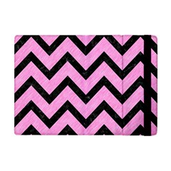 Chevron9 Black Marble & Pink Colored Pencil Apple Ipad Mini Flip Case by trendistuff