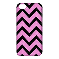 Chevron9 Black Marble & Pink Colored Pencil Apple Iphone 5c Hardshell Case by trendistuff