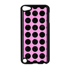 Circles1 Black Marble & Pink Colored Pencil Apple Ipod Touch 5 Case (black) by trendistuff