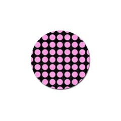 Circles1 Black Marble & Pink Colored Pencil (r) Golf Ball Marker by trendistuff