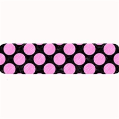 Circles2 Black Marble & Pink Colored Pencil (r) Large Bar Mats by trendistuff
