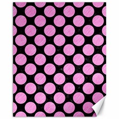 Circles2 Black Marble & Pink Colored Pencil (r) Canvas 11  X 14   by trendistuff