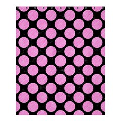 Circles2 Black Marble & Pink Colored Pencil (r) Shower Curtain 60  X 72  (medium)  by trendistuff