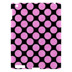 Circles2 Black Marble & Pink Colored Pencil (r) Apple Ipad 3/4 Hardshell Case by trendistuff