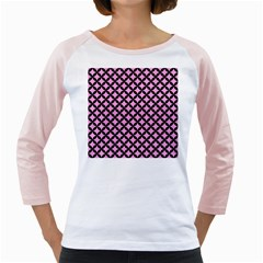 Circles3 Black Marble & Pink Colored Pencil Girly Raglans by trendistuff
