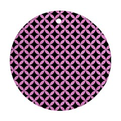 Circles3 Black Marble & Pink Colored Pencil (r) Round Ornament (two Sides) by trendistuff