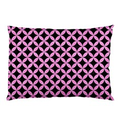 Circles3 Black Marble & Pink Colored Pencil (r) Pillow Case by trendistuff