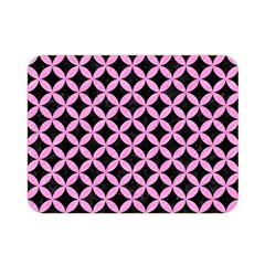 Circles3 Black Marble & Pink Colored Pencil (r) Double Sided Flano Blanket (mini)  by trendistuff
