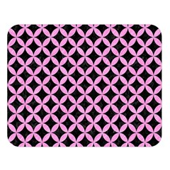 Circles3 Black Marble & Pink Colored Pencil (r) Double Sided Flano Blanket (large)  by trendistuff