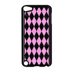 Diamond1 Black Marble & Pink Colored Pencil Apple Ipod Touch 5 Case (black) by trendistuff