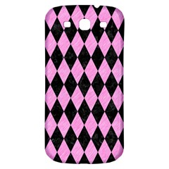 Diamond1 Black Marble & Pink Colored Pencil Samsung Galaxy S3 S Iii Classic Hardshell Back Case by trendistuff