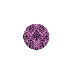 Damask1 Black Marble & Pink Colored Pencil 1  Mini Magnets by trendistuff