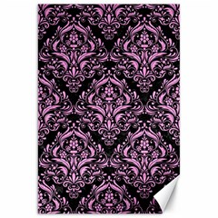 Damask1 Black Marble & Pink Colored Pencil (r) Canvas 20  X 30   by trendistuff
