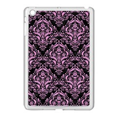 Damask1 Black Marble & Pink Colored Pencil (r) Apple Ipad Mini Case (white) by trendistuff