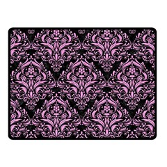 Damask1 Black Marble & Pink Colored Pencil (r) Double Sided Fleece Blanket (small)  by trendistuff