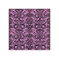 Damask2 Black Marble & Pink Colored Pencil Acrylic Tangram Puzzle (4  X 4 ) by trendistuff