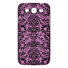 Damask2 Black Marble & Pink Colored Pencil Samsung Galaxy Mega 5 8 I9152 Hardshell Case  by trendistuff