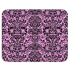 Damask2 Black Marble & Pink Colored Pencil Double Sided Flano Blanket (medium)  by trendistuff