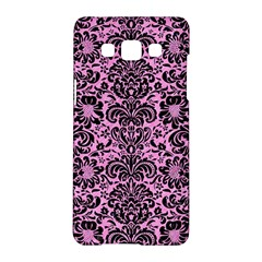 Damask2 Black Marble & Pink Colored Pencil Samsung Galaxy A5 Hardshell Case  by trendistuff