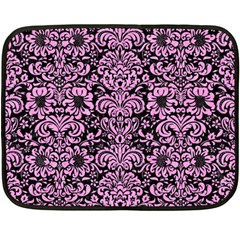 Damask2 Black Marble & Pink Colored Pencil (r) Double Sided Fleece Blanket (mini)  by trendistuff