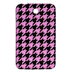 Houndstooth1 Black Marble & Pink Colored Pencil Samsung Galaxy Tab 3 (7 ) P3200 Hardshell Case  by trendistuff