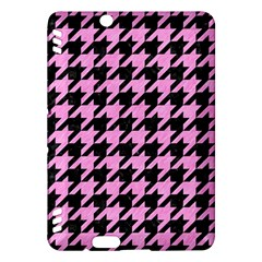 Houndstooth1 Black Marble & Pink Colored Pencil Kindle Fire Hdx Hardshell Case by trendistuff