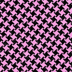 Houndstooth2 Black Marble & Pink Colored Pencil Magic Photo Cubes by trendistuff