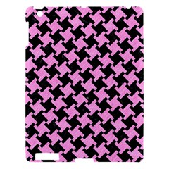Houndstooth2 Black Marble & Pink Colored Pencil Apple Ipad 3/4 Hardshell Case by trendistuff