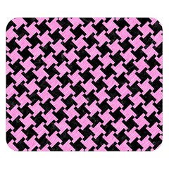 Houndstooth2 Black Marble & Pink Colored Pencil Double Sided Flano Blanket (small)  by trendistuff